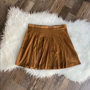 Old Navy Pleated Faux Suede Skirt
